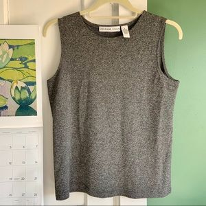 Josephine Chaus pavement grey sleeveless shell